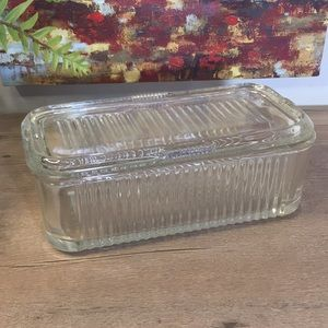 Vintage Federal Glass Refrigerator Dish With Lid